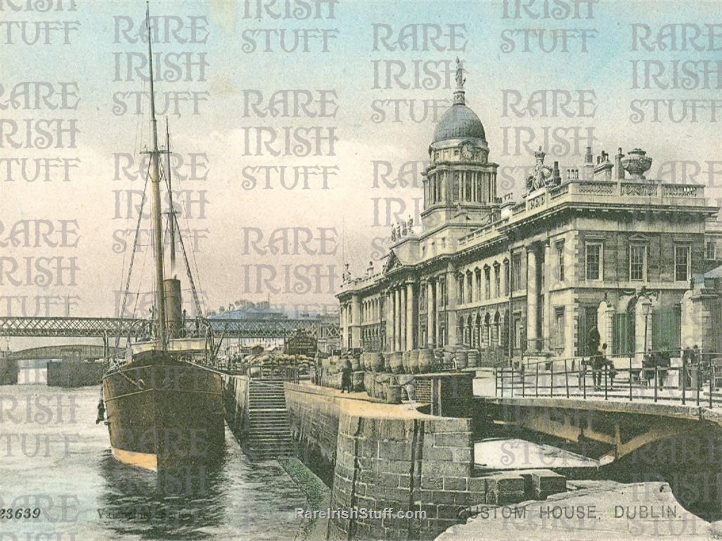 1905  Customs  House  Quays   Dublin   Ireland  Thumbnail0