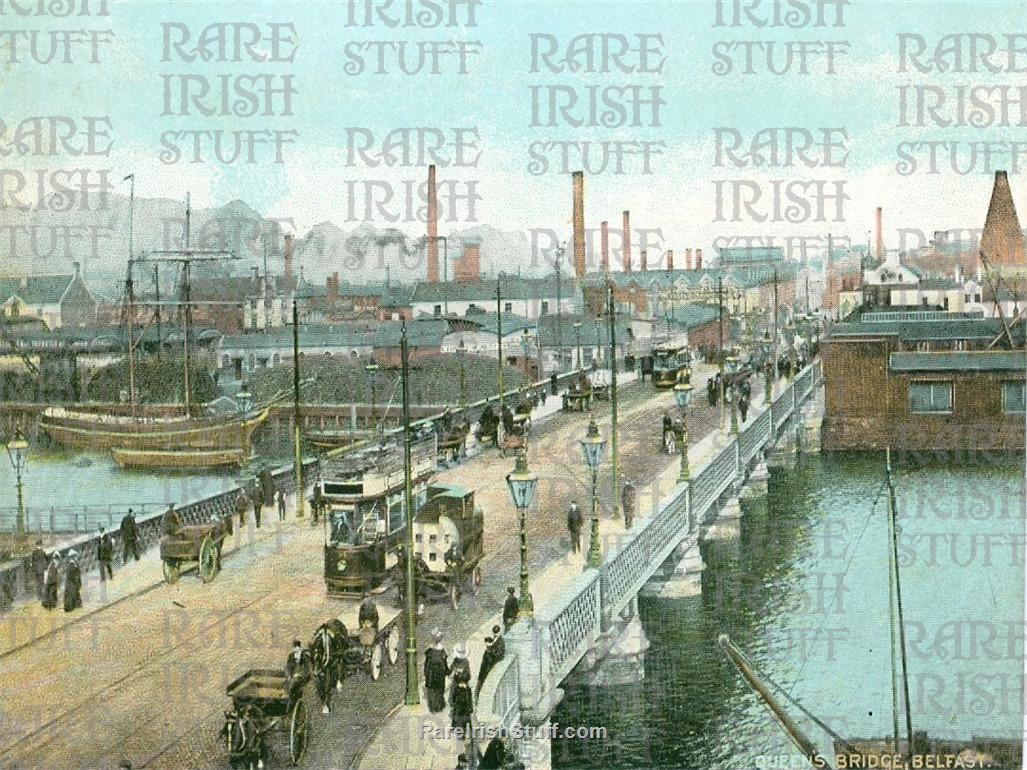 Antrim  Belfast  Queen s  Bridge old  Irish  Photo   Thumbnail0