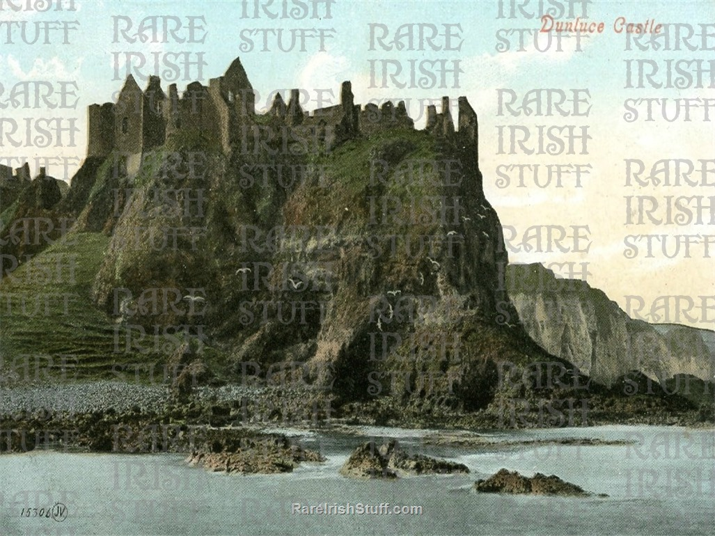 Antrim  Dunluce  Castle  Old  Ireland  Photo 14 x 11  Mounted  Thumbnail0