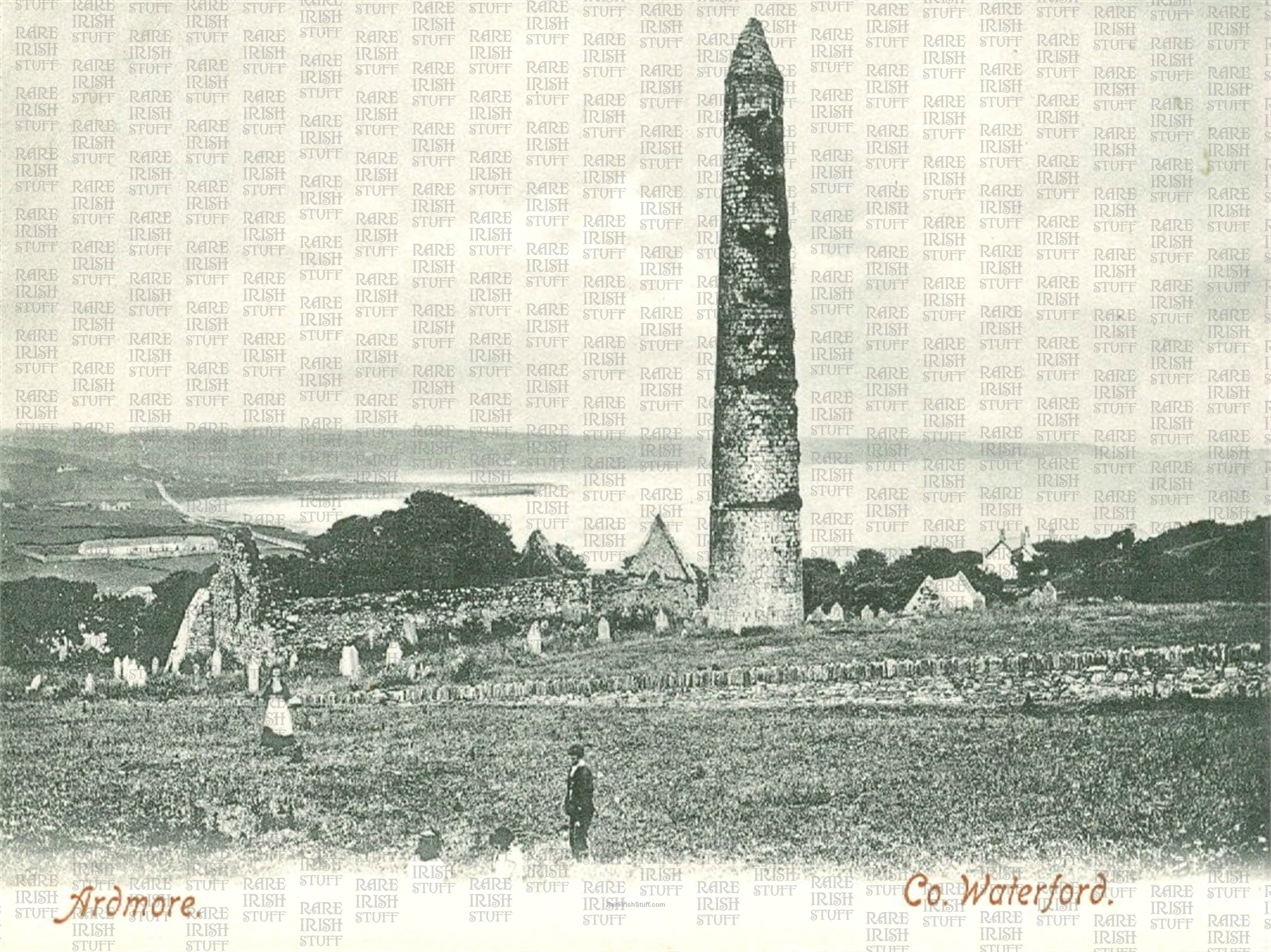 Ardmore    Round  Tower   Waterford   Ireland 1900  Thumbnail0