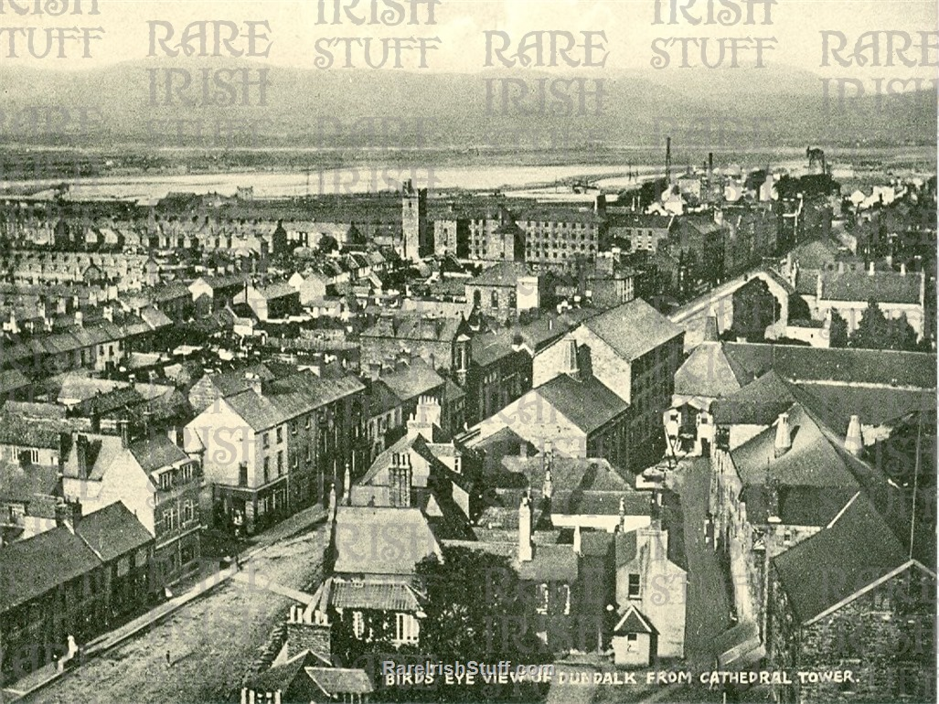 Birds  Eye  View from  Cathedral  Tower   Dundalk   Co.  Louth   Ireland 1950s  Thumbnail0