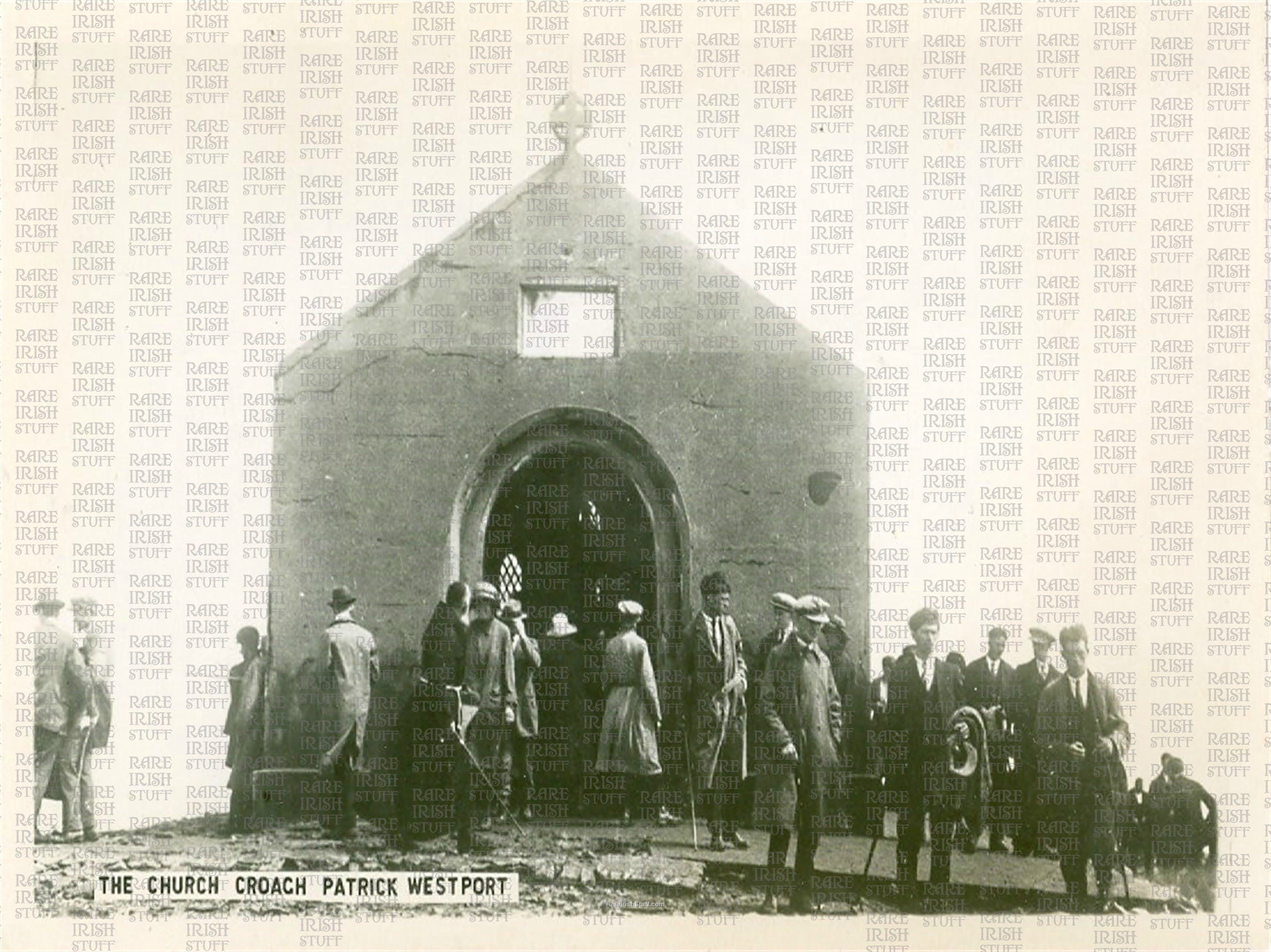 Church on summit of  Croagh  Patrick   Westport   Co.  Mayo   Ireland 1940  Thumbnail0
