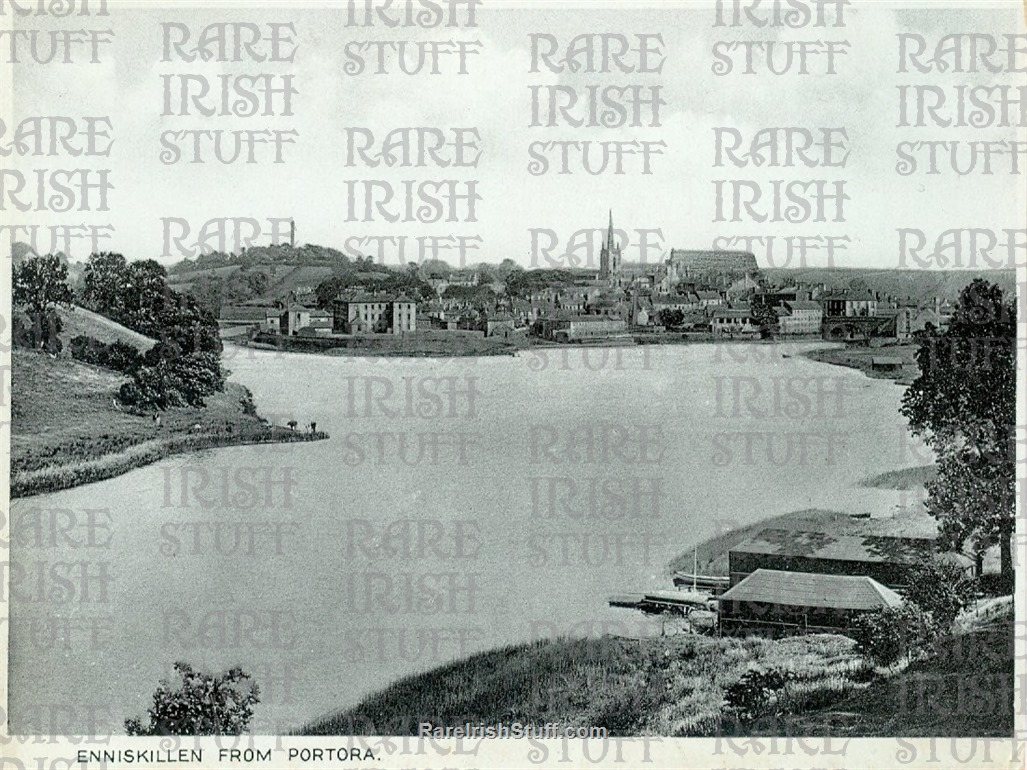 Enniskillen from  Portora   Fermanagh   Ireland 1905  Thumbnail0