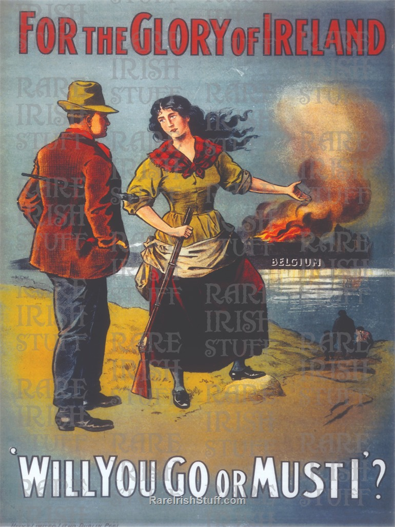 For  The  Glory  Of  Ireland -  Irish  W W1  World  War  One  British  Recruitment -  Print-5  Thumbnail0