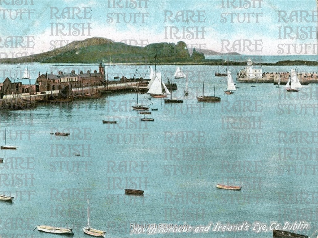 Howth  Harbour and  Ireland s  Eye  Dublin   Ireland 1905  Thumbnail0