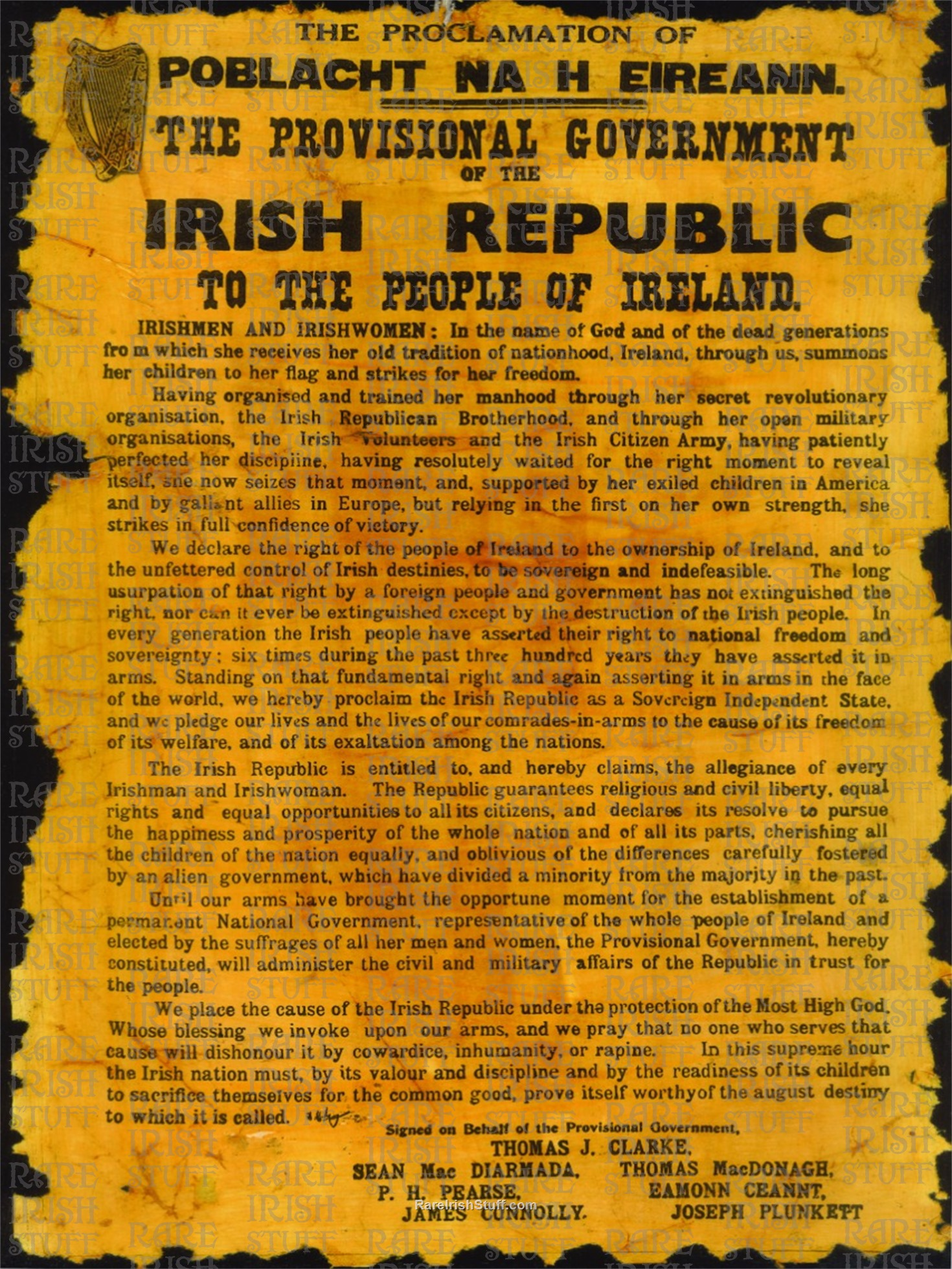 Irish  Proclamation  Thumbnail0