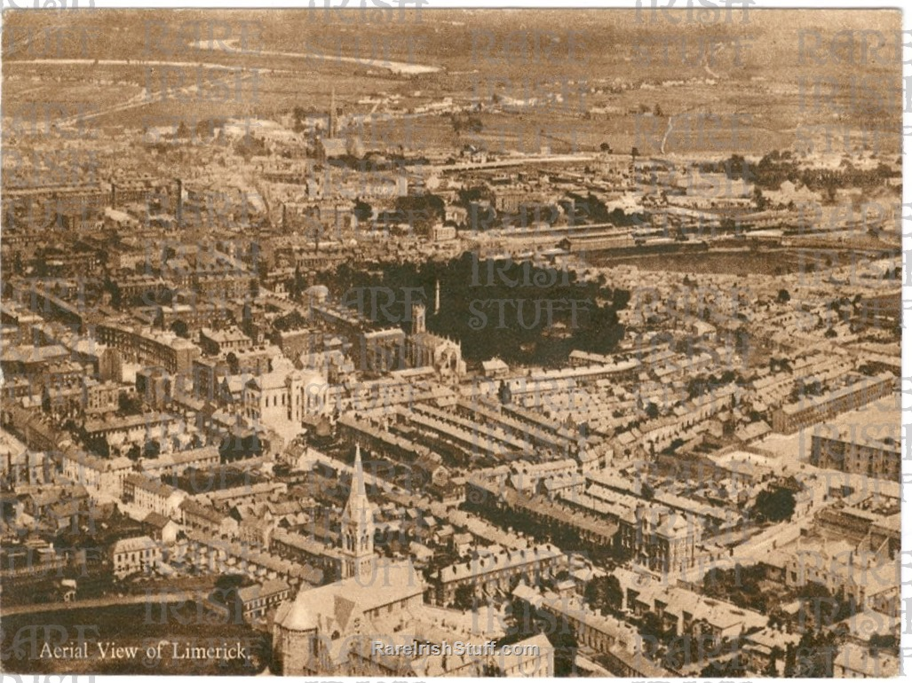 Limerick  City   Aerial  View   Ireland 1930  Thumbnail0