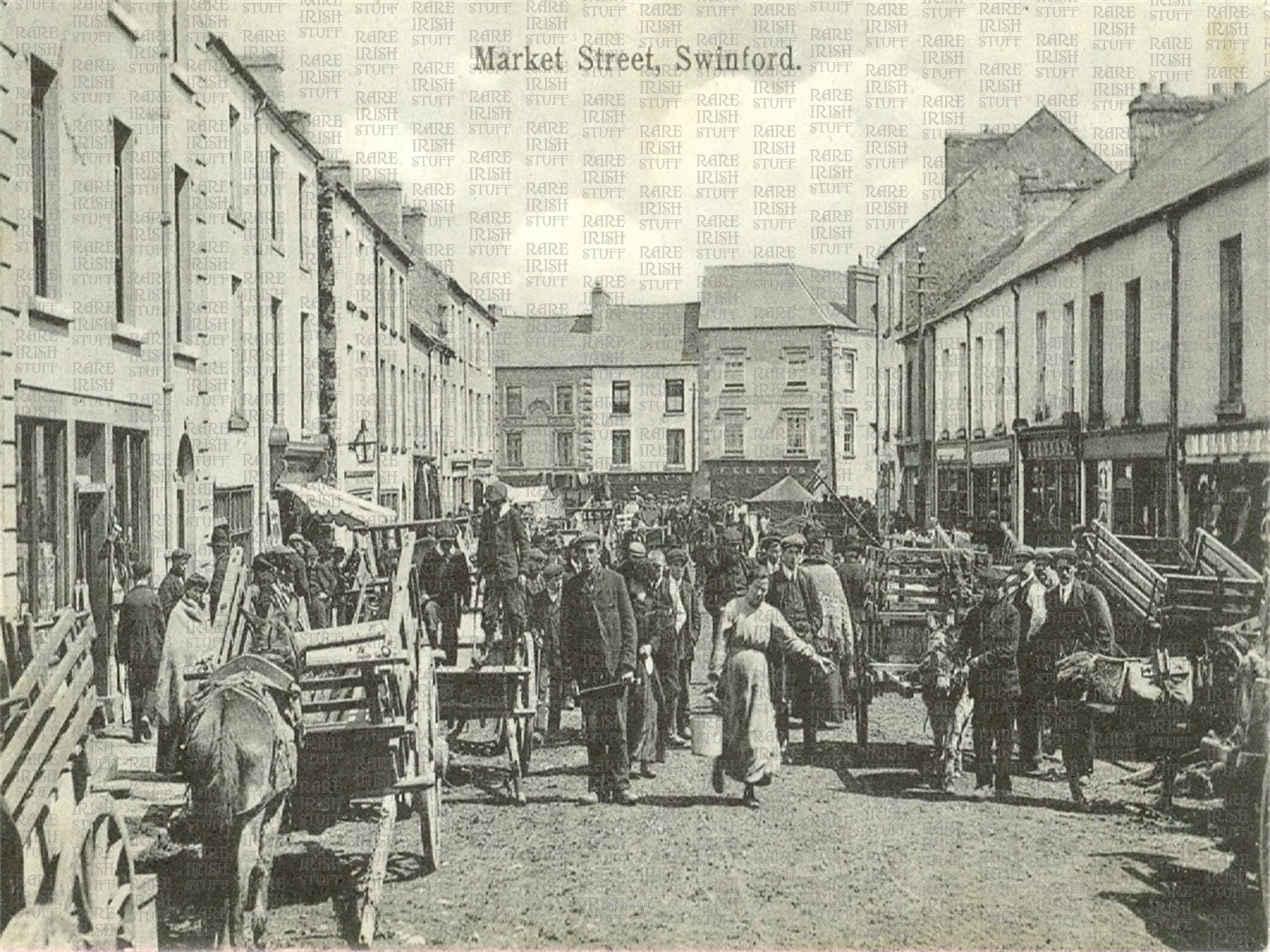 Market  St   Swinford    Co  Mayo   Ireland 1905  Thumbnail0