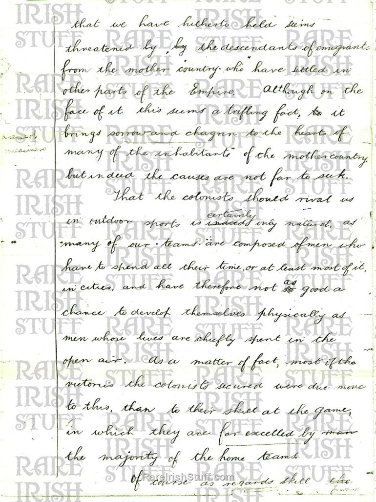 Michael  Collins  Essay page2  Thumbnail0
