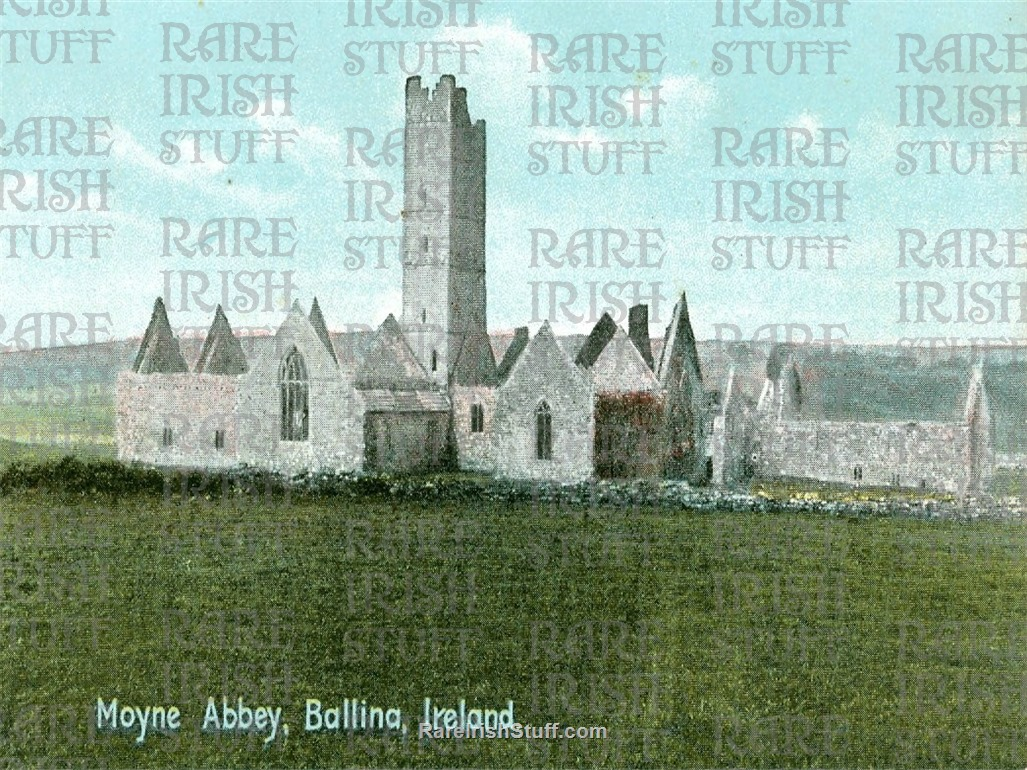 Moyne  Abbey   Ballina   Co.  Mayo   Ireland 1900  Thumbnail0