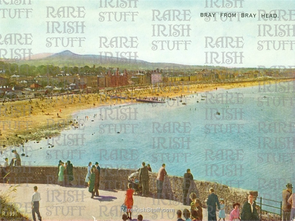 View from  Bray  Head   Bray   Co  Wicklow 1950s  Thumbnail0