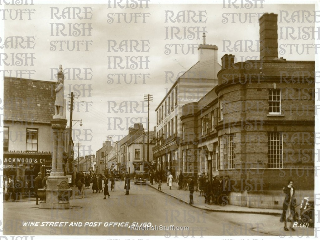 Wine  St    Post  Office   Sligo  Town   Co.  Sligo   Ireland 1950  Thumbnail0