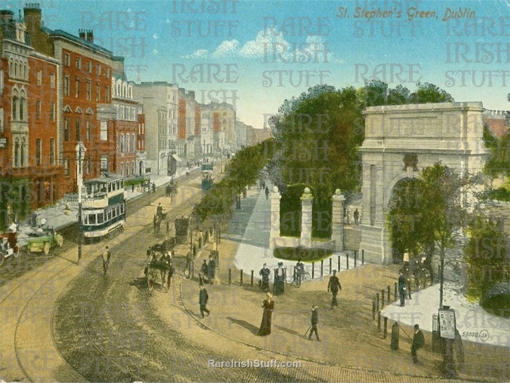 Circa 1905  Entrance to  St  Stephen s  Green   Dublin   Ireland copy  Thumbnail0