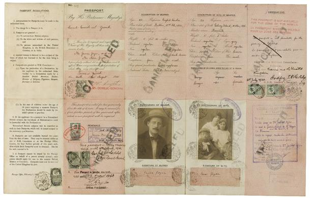 1 JAMES JOYCE WARTIME FAMILY PASSPORT