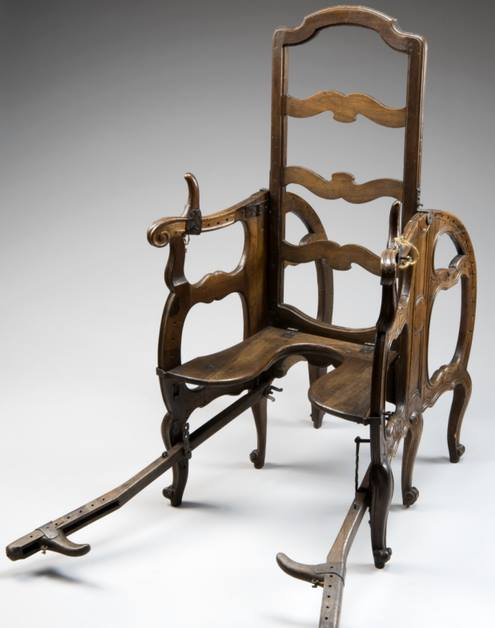- Antique Birthing Chair, C.1750